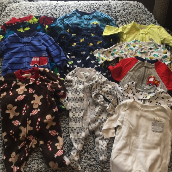 Other - Bundle of 12 Baby boy footies
